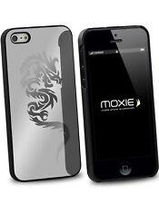 Coque arrière miroir argenté motif dragon pour iPhone 4/4S