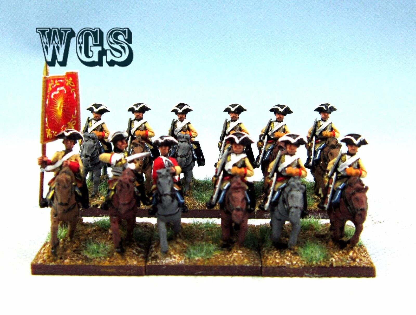 15mm Seven Years War WGS painted French Heavy Cavalry (12 figures) FB9
