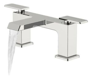 COOKE-amp-LEWIS-HARLYN-DUAL-LEVER-BATH-SHOWER-MIXER-TAP-DECK-MOUNTED-CHROME-NEW