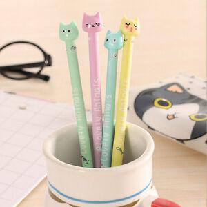 4pcs-set-Cute-Cartoon-Cat-Gel-Ink-Pen-Stationery-School-Office-Supplies-Random