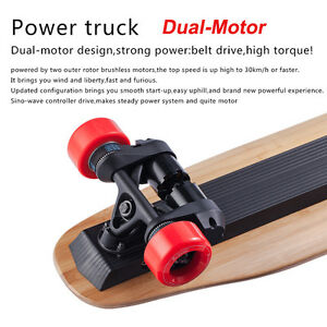 Details About Bench Wheel Electric Skateboard Remote Control Single Dual Motor 4 1800w