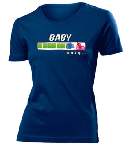 T-Shirt Damen S-XXL Geburt Baby Loading