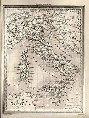 Cartina Politica Italia 1860.Vuillemin Rara Mappa Autentica Ante 1860 Italia Ebay