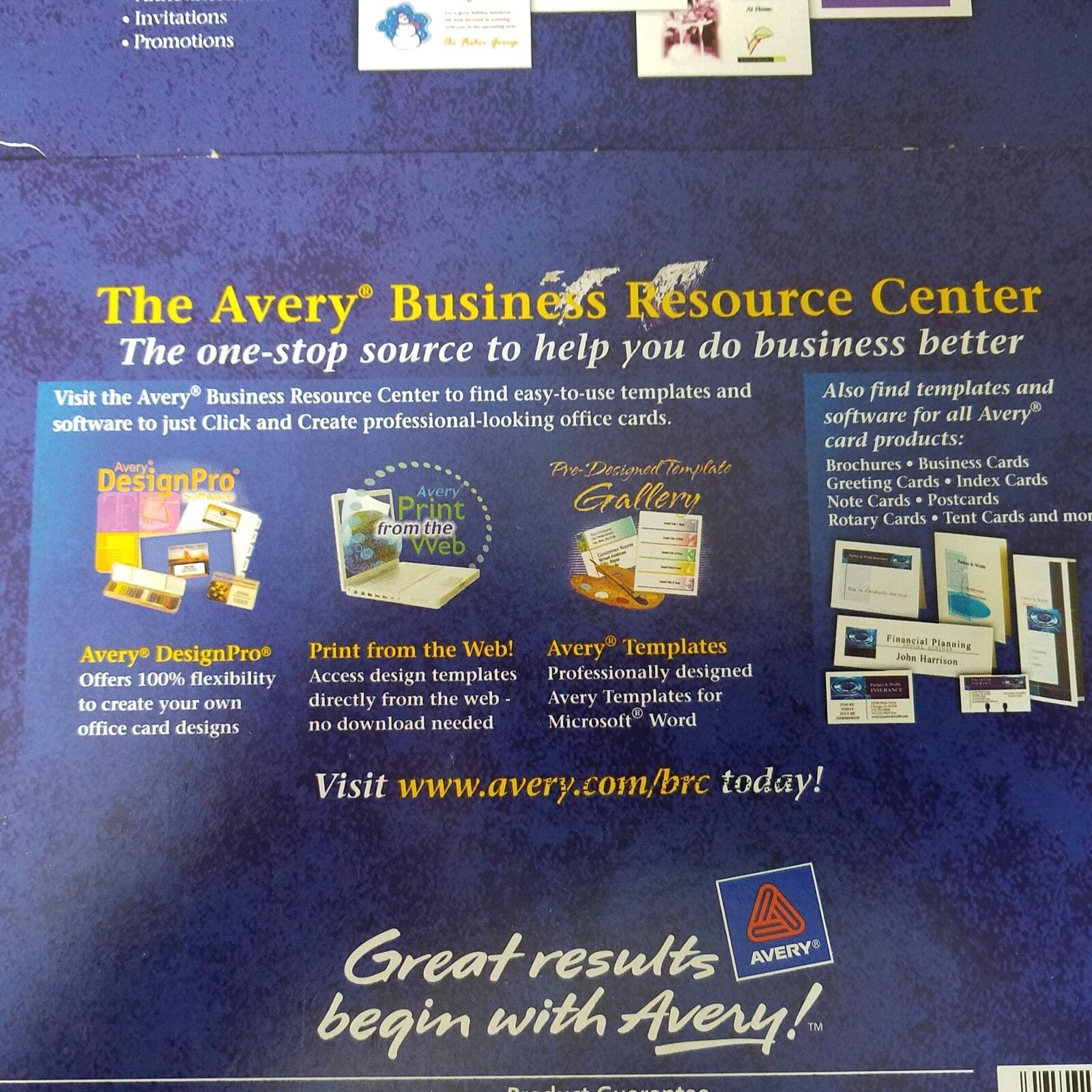 Avery Postcards For Ink Jet Printers 4 X 6 Es White 100 Cards 08386