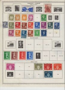 NORWAY-8-SCANS-COLLECTION-LOT-SOME-MINT-OG-M-M-SOME-BACK-OF-BOOK