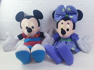 VINTAGE-Mattel-grandi-parlando-Minnie-amp-Mickey-Peluche-Giocattoli-29-034-Mouse-lavoro