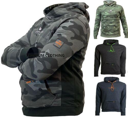 Mens Crosshatch Hoodie Hooded Sweatshirt Top Plain Hoody Jumper Pullover jackets