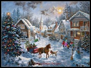 Chart-Needlework-Crafts-DIY-Counted-Cross-Stitch-Patterns-Merry-Christmas