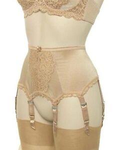 Designer-Lace-Front-Suspender-Belt-with-6-Suspender-Straps-in-Ivory-Black-Gold