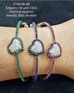 Natural-diamond-flower-bracelet