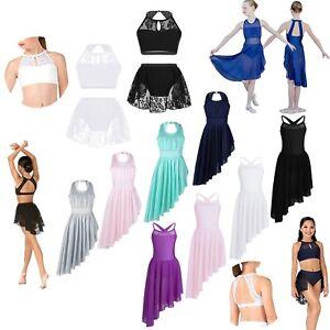 Kids-Girls-Gymnastics-Leotard-Dress-Ballet-Dance-Mesh-Skirt-Dancewear-Costume