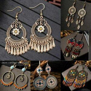Women-Vintage-Boho-Tassel-Chandelier-Dangle-Hook-Earrings-Gypsy-Bohemian-Jewelry