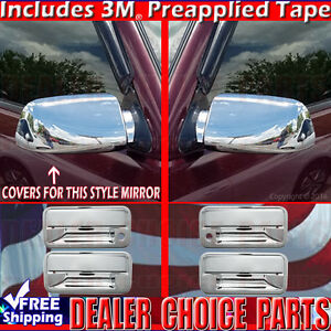 For Chevy 1992-1999 Suburban Tahoe Chrome Tailgate Handle Cover With Keyhole