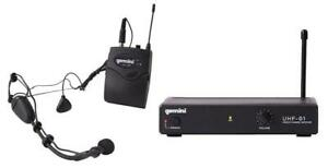 Gemini UHF-01HL-F1 Single Channel Wireless UHF System with Bodypack and headset Canada Preview