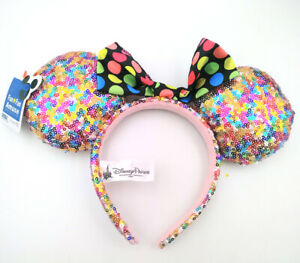 Disney-Parks-Multicolor-Sequins-Mickey-Minnie-Mouse-Ears-Party-Gift-Cos-Headband