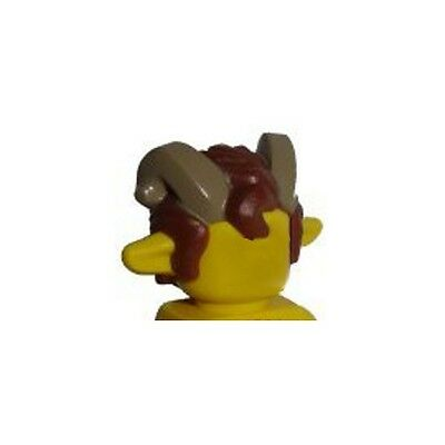 LEGO Reddish Brown Minifig Headgear Hair with Bat Ears and Tan Inner Ear
