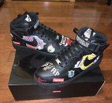 Size 105Nike Air Force 1 Mid 07 x Supreme Black 2018 for sale