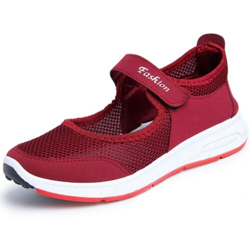 Women Lightweight Walking Shoes Plus Size Summer Breathable Flat Sneakers Beach