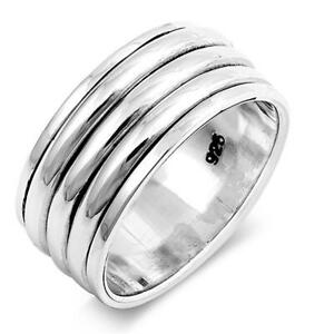 Solid-925-Sterling-Silver-Spinner-Ring-Meditation-Ring-Statement-Ring-Size-st833