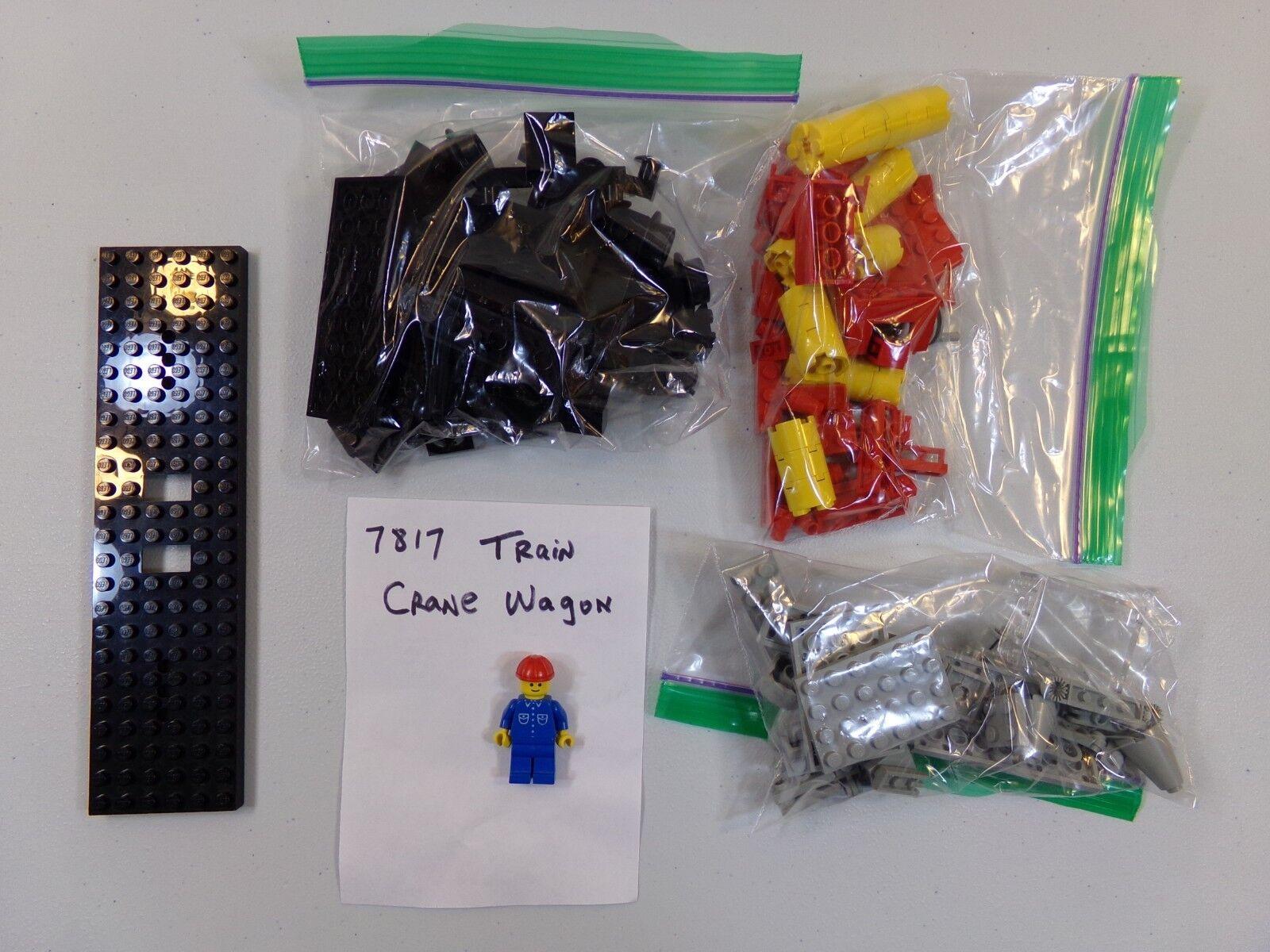 Lego 7817 Train Crane Wagon - 100% Complete