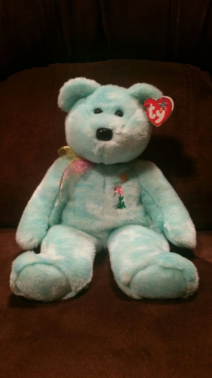 2000 Ty Beanie Buddy ARIEL the Bear In Memory of Ariel Glaser Retired Error MWMT