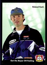Roland Koch Autogrammkarte Bayer Leverkusen 1999-00 Original Sign+A 119042