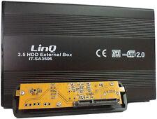 "BOX ESTERNO CASE PER HARD DISK 3.5"" HDD SATA USB 2.0 LINQ IT-SA3506 mshop"