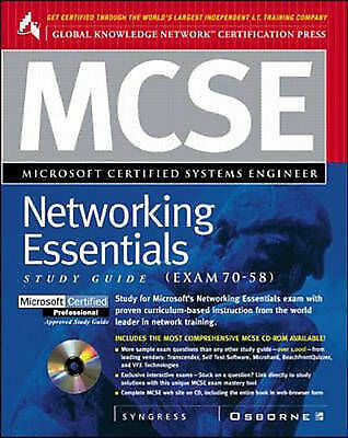 MCSE Networking Essentials (Exam 70-58) (Certification Study Guides), Syngress M