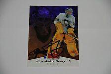 MARC ANDRE FLEURY Penguins Fleer Flair Autographed Signed Hockey Card COA 2