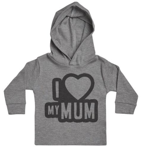 I Love My Mum Black Outline Baby Hoody