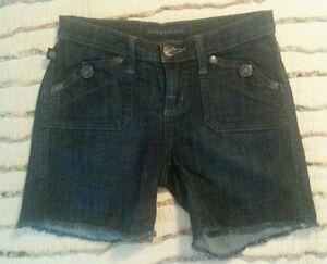 Rock-amp-Republic-034-Stinger-034-Denim-Dark-Wash-Shorts-Size-0