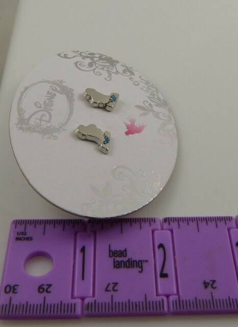 Disney princess Cinderella pierced earrings studs.   sillohuette  Cute!