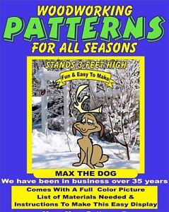 Max The Dog Christmas Yard Art Pattern Wood Working Patternsrus Ebay