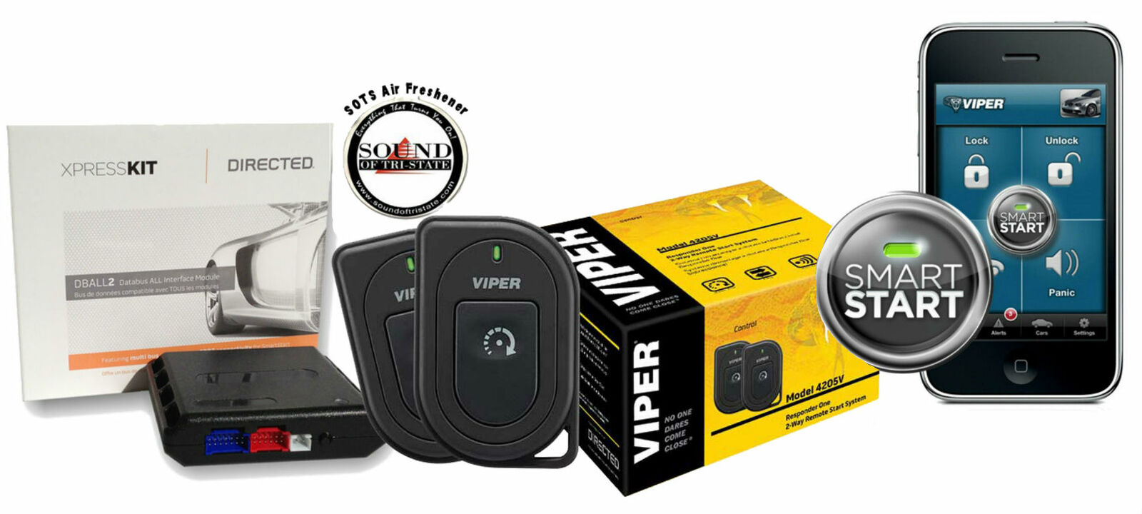 Viper 4806V 2 Way LED Remote Start with Bypass Module Interface Included