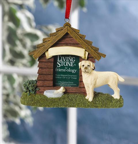 Yellow Labrador Personalised Decoration Magnet Ornament