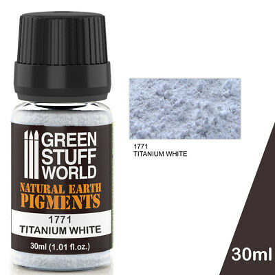 Pigment TITANIUM WHITE Natural Earthy Powder Modelling Miniatures Figurines