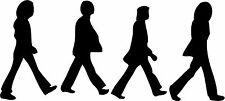 The Beatles Walking Abbey Road Vinyl Cut Sticker 250x115mm - FREE UK DELIVERY