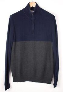 Calvin Klein Herren Reißverschluss Strick Pullover Größe M ATZ1509