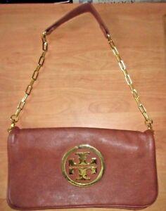 Image Is Loading Tory Burch Handbag Color Tan Light Brown Leather