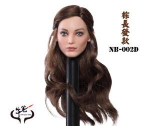 Female Soldier Head Sculpt 1//6 Polaris Emma Green long hair head Carving model