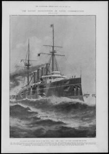 1902-Antique-Print-NAVAL-Largest-Fastest-Cruiser-King-Alfred-Vickers-Maxim-83