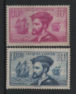 FRANCE-STAMP-TIMBRE-296-297-034-JACQUES-CARTIER-BATEAU-CANADA-034-NEUF-xx-TB-R828