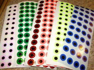 """EXTREME GLOW 1/"""" Lure Die Cut Circles 50 Pack Fishing Lure Tape NEW!"""