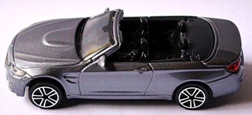 BMW M4 F83 Cabriolet 2014-17 grau grey metallic 1:43 Bburago