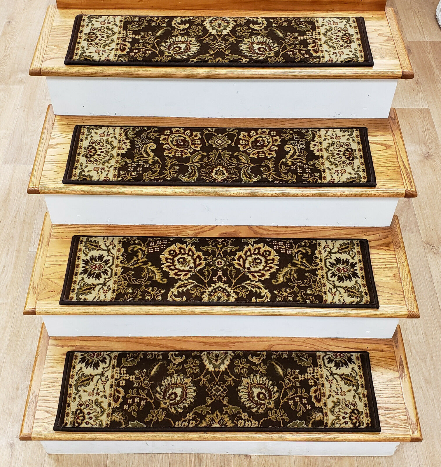 Rug Depot 13 Traditional Non Slip Carpet Stair Treads 31  x 9  Marronee Stair Rugs