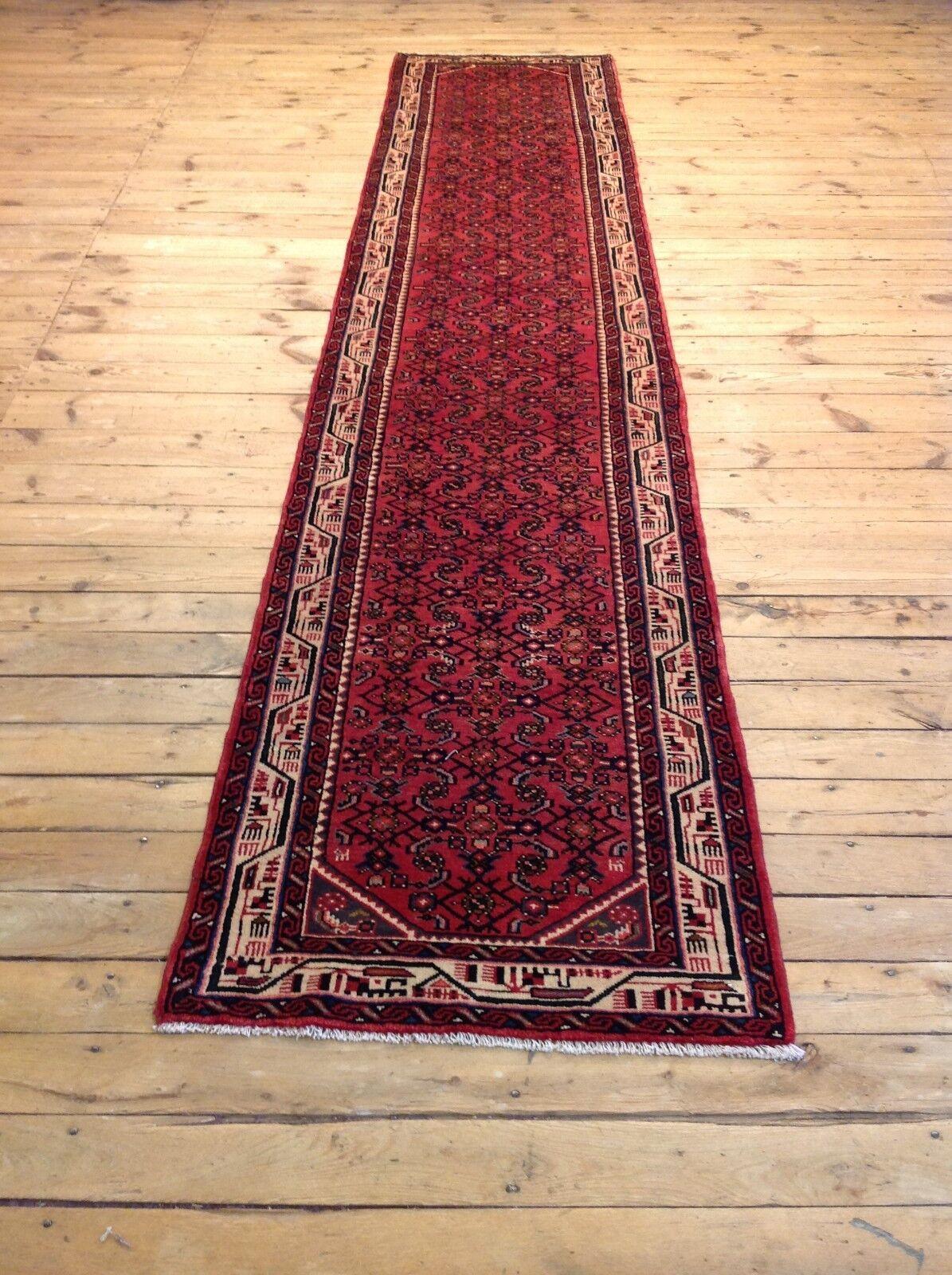 Sensacional Orient alfombra Hamadan (392 x 80 cm) alfombra persa alfil top nuevo