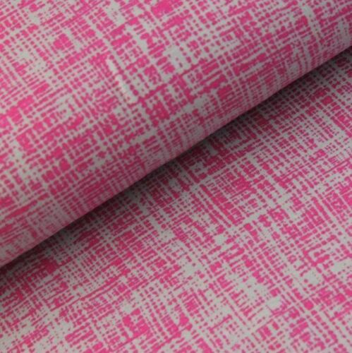 Stretch Jersey Knit Fabric 95/% Cotton 5/% Lycra Half Metre Hatch Pink Grey