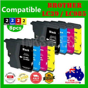 8X-Ink-Cartridge-LC985-LC39-For-Brother-DCP-J315-J515-MFC-J220-J265W-J410-J415W