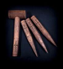 Vampire Hunter's Wooden Stakes & Mallet Set - Handmade