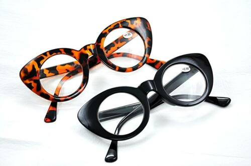 GF63 Retro,Vintage Cats Eye Fashion Glasses Frame,Clear Lens Black or Tortoise